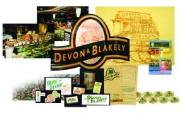 Devon & Blakely logo applications